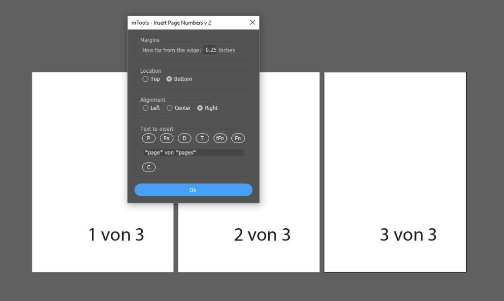 Einfügen von automatischen Seitenzahlen in Adobe Illustrator