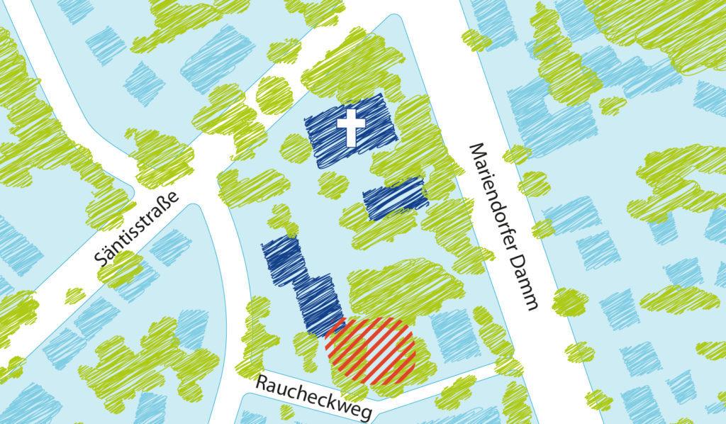 Lageplan der Gemeinde